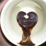 Гадание на кофейной гуще. Сердце видно в чашке