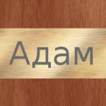 Что означает мужское имя Адам