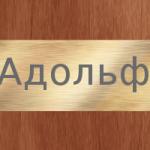 Особенности характера и отношений человека, носящего имя Адольф