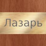 Значение имени Лазарь