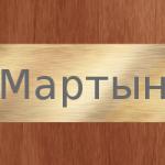 Мартын – значение и загадка имени