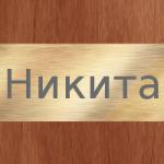 Никита – значение имени