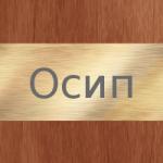 Имя Осип. История происхождения и значение