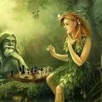 Какие существа жили в деревьях, согласно мифологии?