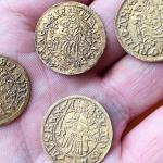 Они нашли редкие золотые монеты. Они пришли из периода Черной Смерти