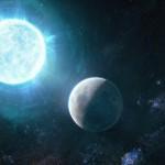 Эта звезда размером почти с Луну, но имеет большую массу, чем Солнце